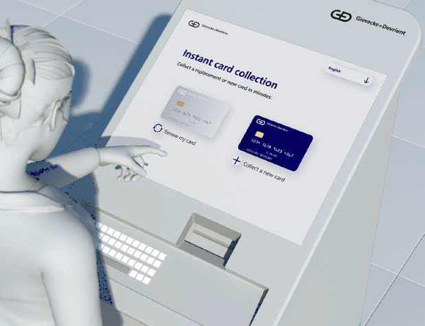 GD Convego Instant Issuance Kiosk Screen
